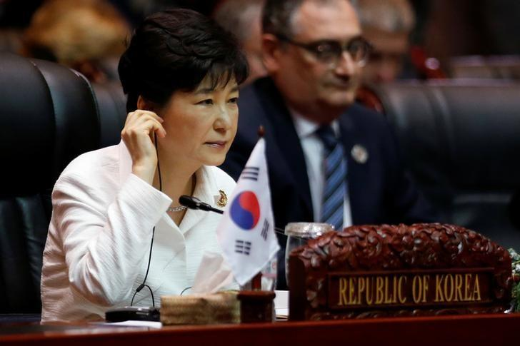 South Korea's President Park Geun-hye attends the East Asia Summit in Vientiane, Laos September 8, 2016.   REUTERS/Soe Zeya Tun