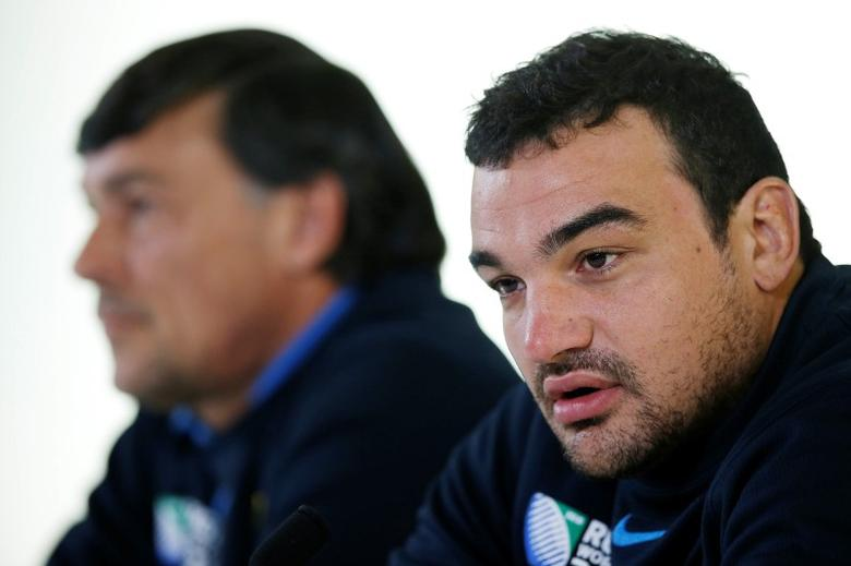 Rugby Union - Argentina Press Conference - Pennyhill Park, Bagshot, Surrey - 23/10/15Argentina head coach Daniel Hourcade and Agustin Creevy during a press conferenceAction Images via Reuters / Paul Childs