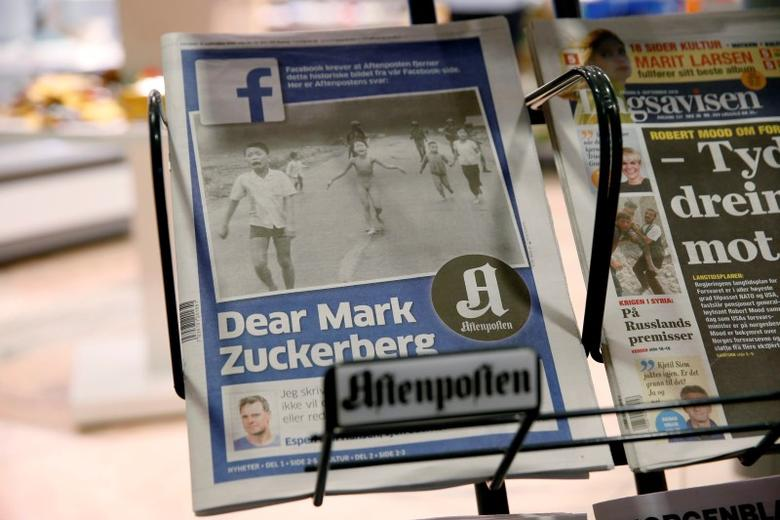 The front cover of Norway's largest newspaper by circulation, Aftenposten, is seen at a news stand in Oslo, Norway September 9, 2016. NTB Scanpix/Cornelius Poppe/via REUTERS