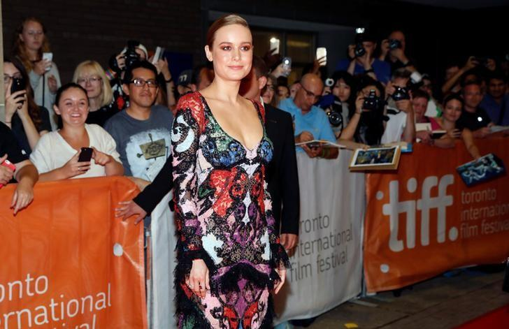 Brie Larson arrives on the red carpet for the film ''Free Fire'' during the 41st Toronto International Film Festival (TIFF), in Toronto, Canada, September 8, 2016.    REUTERS/Mark Blinch