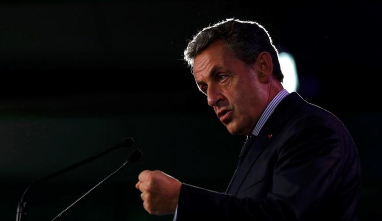 Former French President Nicolas Sarkozy delivers his speech during a meeting in Poissy, near Paris, France, September 6, 2016. REUTERS/Philippe Wojazer