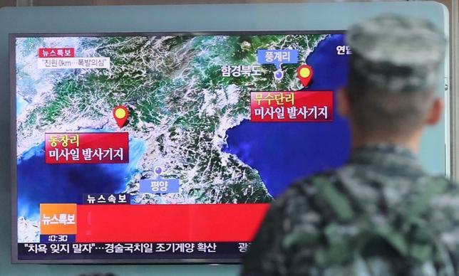 9月12日、北朝鮮は新たな核実験の準備完了した。聨合ニュースが韓国政府筋の話として報じた。ソウルで9日撮影(2016年 ロイター)