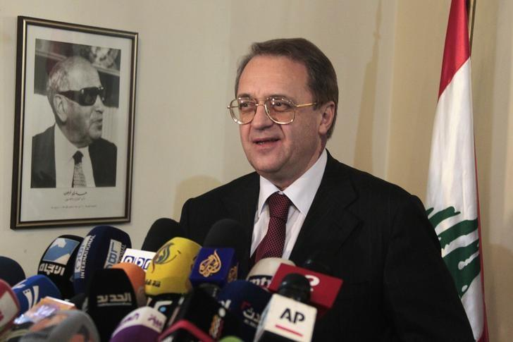 Russia's Deputy Foreign Minister Mikhail Bogdanov talks during a news conference at the Foreign Ministry in Beirut December 5, 2014. REUTERS/Aziz Taher (LEBANON - Tags: POLITICS)