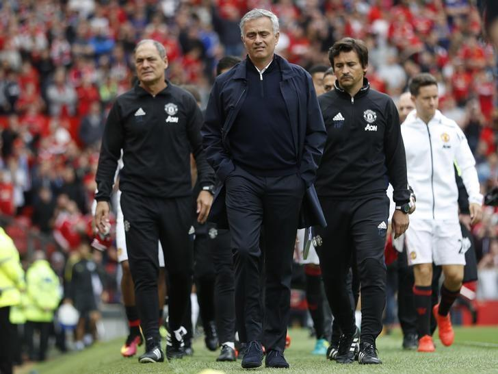Britain Soccer Football - Manchester United v Manchester City - Premier League - Old Trafford - 10/9/16Manchester United manager Jose Mourinho before the match Action Images via Reuters / Carl RecineLivepic