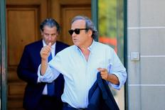 Former UEFA President Michel Platini leaves the Court of Arbitration for Sport (CAS) after being heard in the arbitration procedure involving him and the FIFA in Lausanne, Switzerland, August 25, 2016. REUTERS/Pierre Albouy