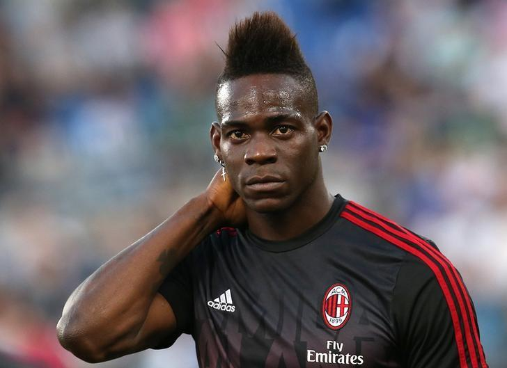 Football Soccer - Juventus v Milan - Italian Cup Final - Olympic stadium, Rome, Italy - 21/05/16  AC Milan's Mario Balotelli looks on before the match against Juventus.    REUTERS/Alessandro Bianchi/File Photo