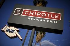 A Chipotle Mexican Grill is seen in Los Angeles, California, U.S. on April 25, 2016. REUTERS/Lucy Nicholson/File Photo