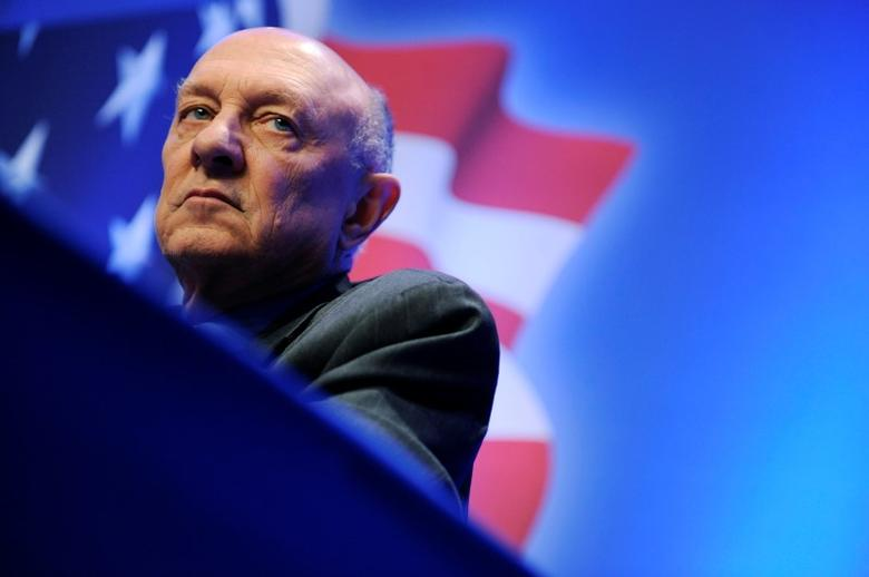 Former director of the U.S. Central Intelligence Agency James Woolsey takes part in a panel discussion on Sharia law at the Conservative Political Action Conference (CPAC) in Washington February 12, 2011.  REUTERS/Jonathan Ernst