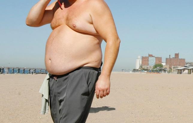 9月12日、オックスフォード英英辞典が改定され、男性の豊満な胸部を意味する「moobs」などの新語が追加された。米ニューヨーク州コニーアイランドで2009年5月撮影(2016年 ロイター/Lucas Jackson)