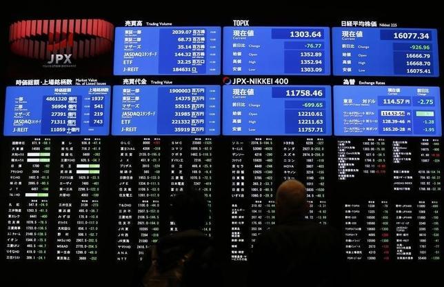 9月13日、東京株式市場で日経平均は反発した。米利上げ観測の後退で前日の米国株が大幅高となったことを背景に、序盤は買いが優勢の展開。写真は都内で2月撮影(2016年 ロイター/Issei Kato)
