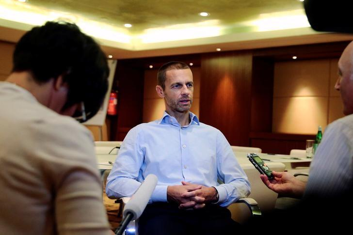 President of the Football Association of Slovenia and candidate for the UEFA presidency Aleksander Ceferin speaks during an interview with Reuters in Athens, Greece September 13, 2016. REUTERS/Alkis Konstantinidis