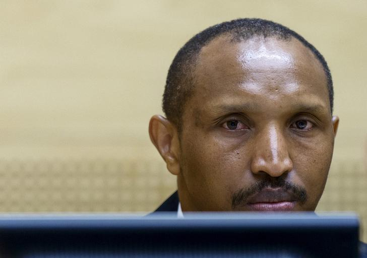 Congolese militia leader Bosco Ntaganda sits in the courtroom of the ICC (International Criminal Court) during the first day of his trial at the Hague in the Netherlands September 2, 2015. REUTERS/Michael Kooren/File Photo