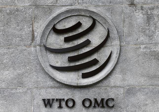 9月13日、米政府は、中国が小麦やトウモロコシ、コメの生産者に過剰な政府補助金を支給しているとして、世界貿易機関(WTO)に提訴した。ジュネーブのWTO本部で6月撮影(2016年 ロイター/REUTERS/Denis Balibouse)