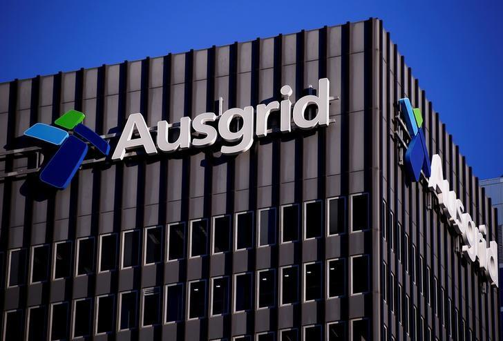 The logo for Australia's biggest electricity network Ausgrid adorns the headquarters building in central Sydney, Australia, July 25, 2016. REUTERS/David Gray/File Photo