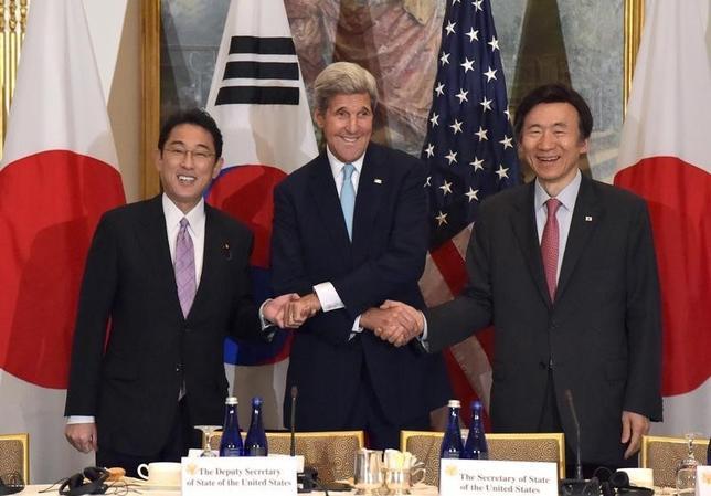 9月14日、韓国外務省は、日米韓外相会談をニューヨークで18日に行い、5度目の核実験を行った北朝鮮への対応を協議すると発表した。写真はニューヨークで2015年9月撮影(2016年 ロイター/Darren Ornitz)