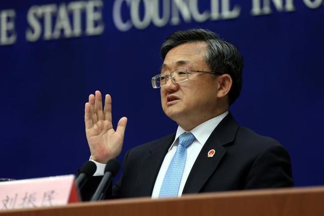 9月14日、中国の劉振民外務次官は、訪中したフィリピン代表団に対し、両国関係は「周知の理由により最低水準まで落ち込んでいる」と伝えた。写真は北京で7月撮影 チャイナデイリー提供(2016年 ロイター)