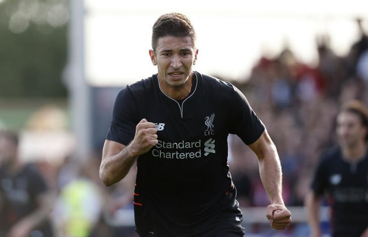 Britain Football Soccer - Fleetwood Town v Liverpool - Pre Season Friendly - Highbury Stadium - 13/7/16Marko Grujic celebrates after scoring the first goal for LiverpoolAction Images via Reuters / Ed SykesLivepic