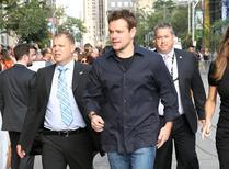 """Matt Damon chega para lançamento de """"Manchester By The Sea"""" em Toronto.  13/9/2016.    REUTERS/Fred Thornhill"""