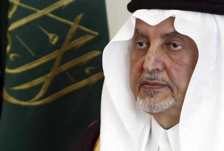 Mecca Governor Prince Khaled al-Faisal speaks during an annual news conference briefing reporters on the conclusion of the main rites of the haj pilgrimage in Mina, near the holy city of Mecca October 28, 2012. REUTERS/Amr Abdallah Dalsh/Files