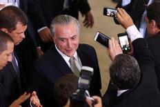Temer no Palácio do Planalto  11/8/2016 REUTERS/Adriano Machado