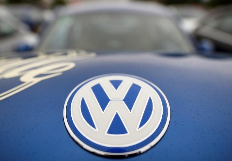 The logo of a Volkswagen Beetle car is seen at the ''Sunshinetour 2016'' in Travemuende at the Baltic Sea, August 20, 2016.  REUTERS/Fabian Bimmer/File Photo