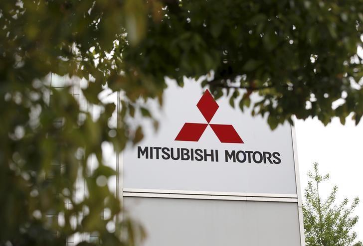 The logo of Mitsubishi Motors Corp is seen at its headquarters in Tokyo, Japan, April 21, 2016.   REUTERS/Toru Hanai/File Photo
