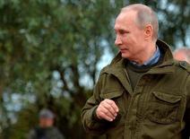 Presidente russo, Vladimir Putin, visita região de Novgorod, na Rússia 10/09/2016 Sputnik/Kremlin/Alexei Druzhinin/via REUTERS
