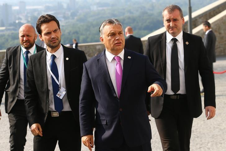 Hungary's Prime Minister Victor Orban arrives for the European Union summit- the first one since Britain voted to quit- in Bratislava, Slovakia, September 16, 2016. REUTERS/Leonhard Foeger