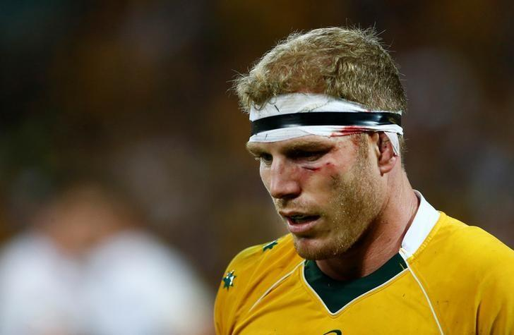 Rugby Union - Rugby Test - England v Australia's Wallabies - Brisbane, Australia - 11/06/16.  Injured Wallaby David Pocock reacts in the second half.   REUTERS/Jason O'Brien