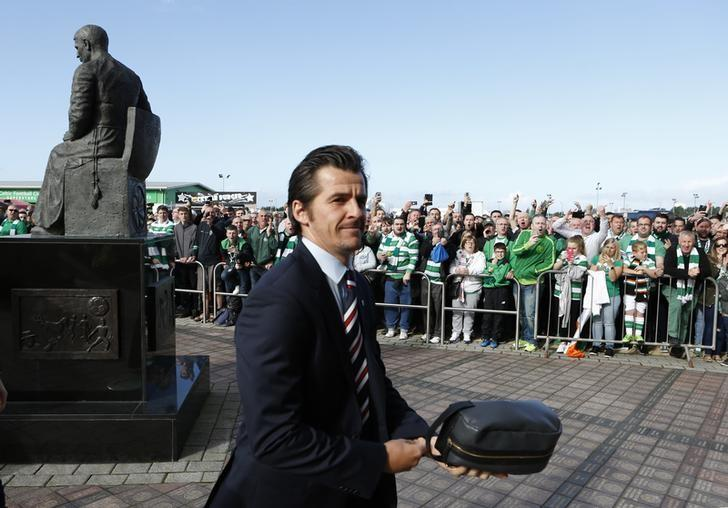 Football - Celtic v Rangers - Scottish Premiership - Celtic Park - 10/9/16Rangers' Joey Barton arrives before the gameMandatory Credit: Action Images / Russell CheyneLivepic