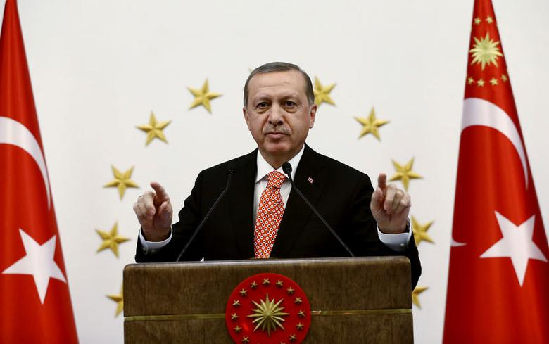 Turkish President Tayyip Erdogan addresses governors during a meeting in Ankara, Turkey, September 8, 2016. Yasin Bulbul/Presidential Palace/Handout via REUTERS