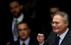 Presidente do Senado, Renan Calheiros, participa de votação final do impeachment, em Brasília, Brasil 31/08/2016 REUTERS/Ueslei Marcelino