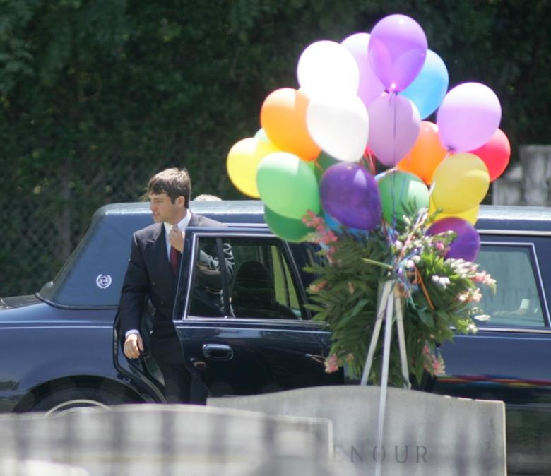 Burke Ramsey arrives for the burial service of his mother Patsy Ramsey in Marietta, Georgia on June 29, 2006. REUTERS/Tami Chappell /File Photo