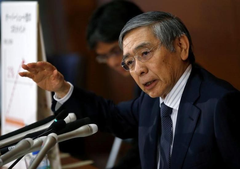 Bank of Japan (BOJ) Governor Haruhiko Kuroda attends a news conference at the BOJ headquarters in Tokyo, Japan, September 21, 2016.  REUTERS/Toru Hanai