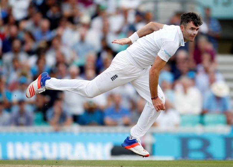 Britain Cricket - England v Pakistan - Fourth Test - Kia Oval - 13/8/16England's James Anderson in actionAction Images via Reuters / Paul ChildsLivepic