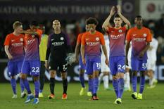 Britain Football Soccer - Swansea City v Manchester City - EFL Cup Third Round - Liberty Stadium - 21/9/16 Manchester City's John Stones applauds fans after the game  Action Images via Reuters / Andrew Boyers Livepic
