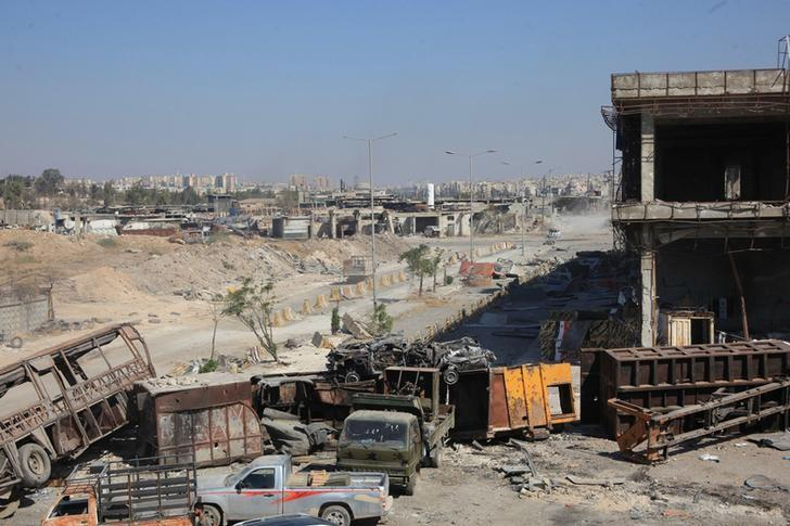 A general view shows the damage in the Ramousah area of southern Aleppo, after forces loyal to Syria's President Bashar al-Assad advanced in it, Syria, in this handout picture provided by SANA on September 9, 2016. SANA/Handout via REUTERS