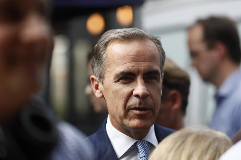 Bank of England governor Mark Carney arrives at Whitecross Street Market in London, Britain September 13, 2016. REUTERS/Stefan Wermuth