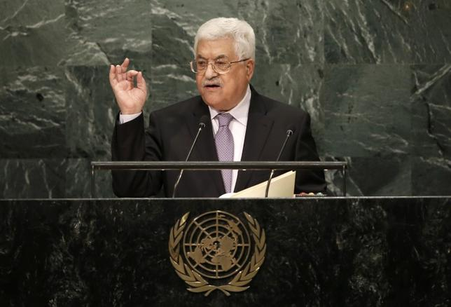 President Mahmoud Abbas of Palestine addresses the 71st United Nations General Assembly in Manhattan, New York, U.S. September 22, 2016. REUTERS/Mike Segar