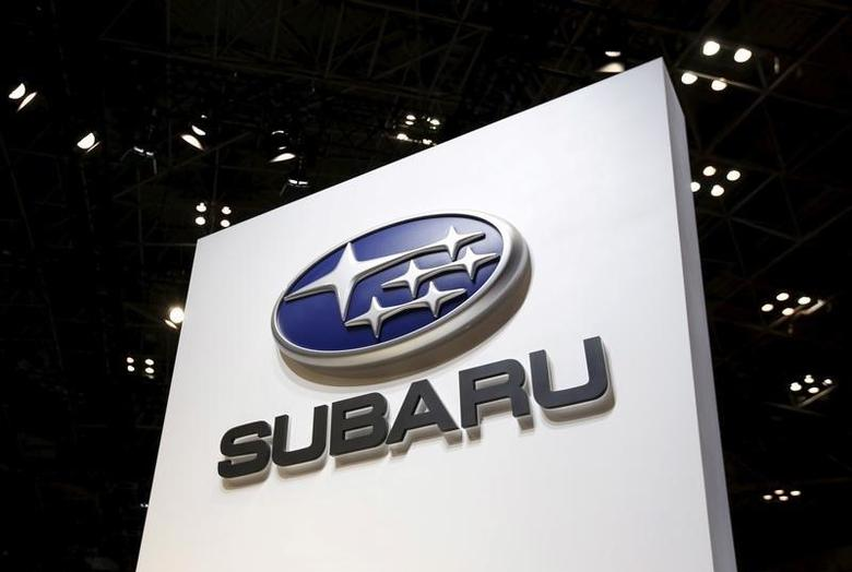 Fuji Heavy Industries Ltd (FHI)'s Subaru logo is displayed at the 44th Tokyo Motor Show in Tokyo, Japan, November 2, 2015.  REUTERS/Issei Kato/File Photo