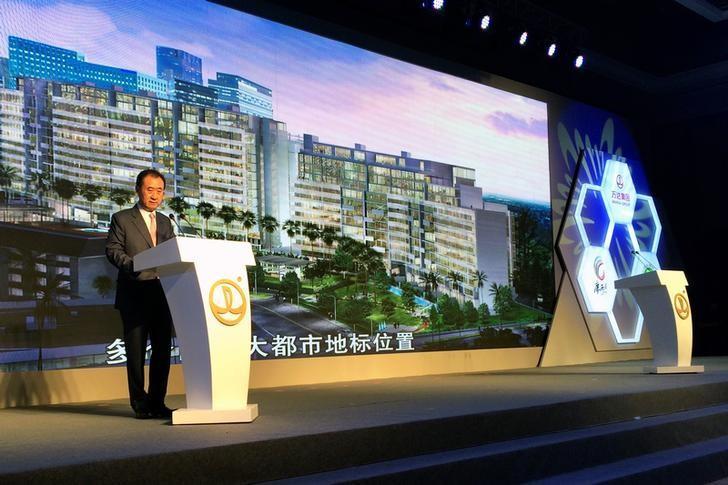 Wang Jianlin, chairman of Dalian Wanda Group, speaks during a news conference in Beijing, China, July 13, 2016. REUTERS/Sue-Lin Wong