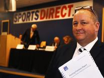 Mike Ashley, founder and majority shareholder of sportwear retailer Sports Direct, arrives at the company's AGM, at the company's headquarters in Shirebrook, Britain, September 7, 2016. REUTERS/Darren Staples/File Photo