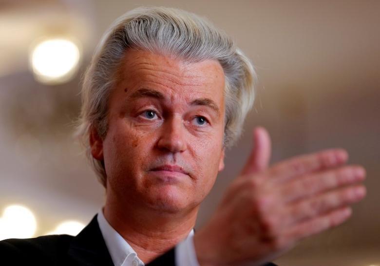 Dutch far-right Party for Freedom (PVV) leader Geert Wilders answers questions during a Reuters interview in Budapest, Hungary, June 24, 2016, after Britain voted to leave the European Union in the EU BREXIT referendum. REUTERS/Laszlo Balogh
