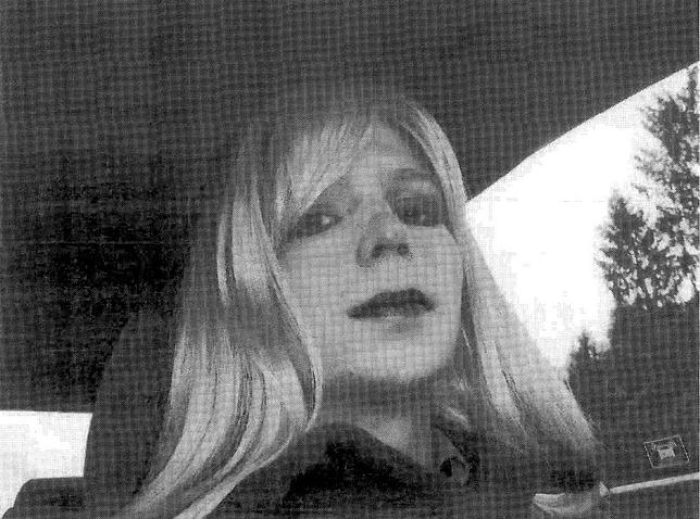 U.S. soldier Chelsea Manning, who was born male but identifies as a woman, imprisoned for handing over classified files to pro-transparency site WikiLeaks, is pictured dressed as a woman in this 2010 photograph obtained on August 14, 2013. Courtesy U.S. Army/Handout via REUTERS