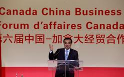 Chinese Premier Li Keqiang speaks to Montreal businessmen at the 6th China-Canada Economic & Trade Cooperation Forum in Montreal, Canada September 23, 2016. REUTERS/Christinne Muschi