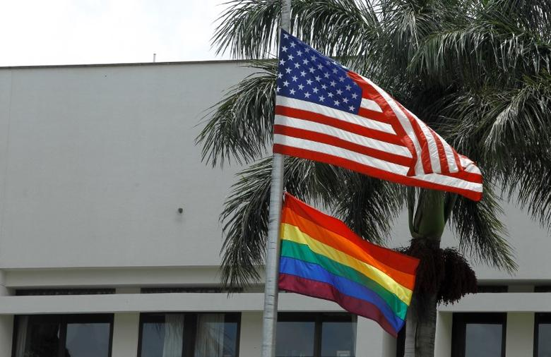 The flag of diversity flutters at the U.S. Embassy in San Jose, Costa Rica, as a <p>To read more about online clothes shopping sites visit <a href=