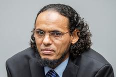 Ex-rebelde islâmico Ahmad al-Faqi al-Mahdi no Tribunal Penal Internacional, em Haia.   22/08/2016           REUTERS/Patrick Post