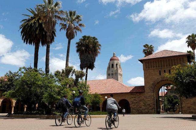 9月28日、ロイターがまとめた2016年の最も革新的な大学ランキング(100校)で、米スタンフォード大学が首位を維持した。写真はカリフォルニア州のキャンパス、2014年5月撮影(2016年 ロイター/Beck Diefenbach)