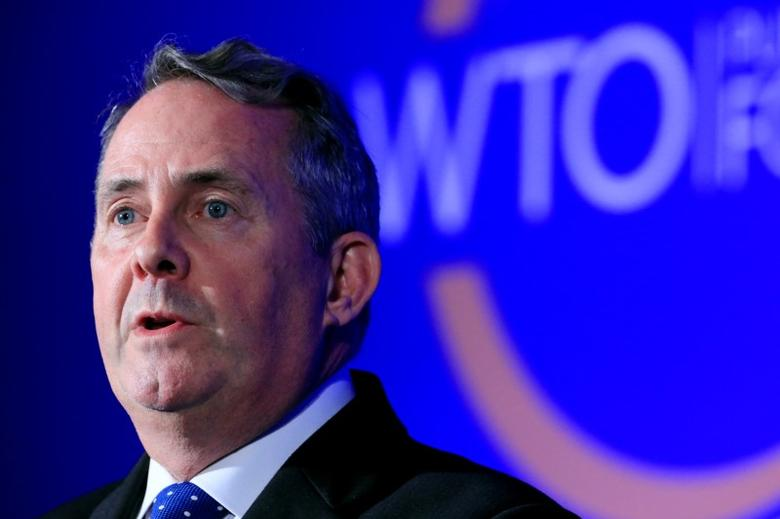Britain's International Trade Secretary Liam Fox speaks during the WTO annual Public Forum in Geneva, Switzerland, September 27, 2016. REUTERS/Pierre Albouy