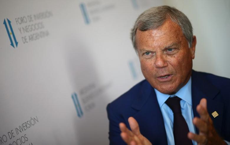 Sir Martin Sorrell, Chairman and Chief Executive Officer of WPP, the world's largest advertising company, speaks during an interview with Reuters at the Argentina Business and Investment Forum 2016 in Buenos Aires, Argentina, September 13, 2016. REUTERS/Marcos Brindicci